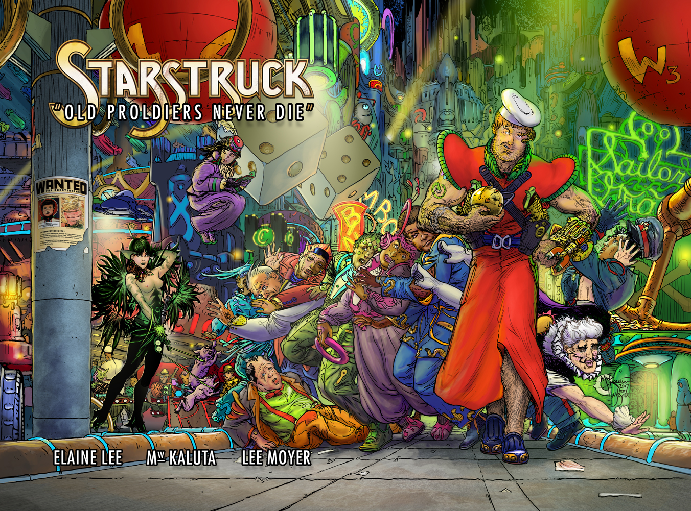 "Cover for the Kickstarter Edition of Starstruck ""Old Proldiers Never Die"""
